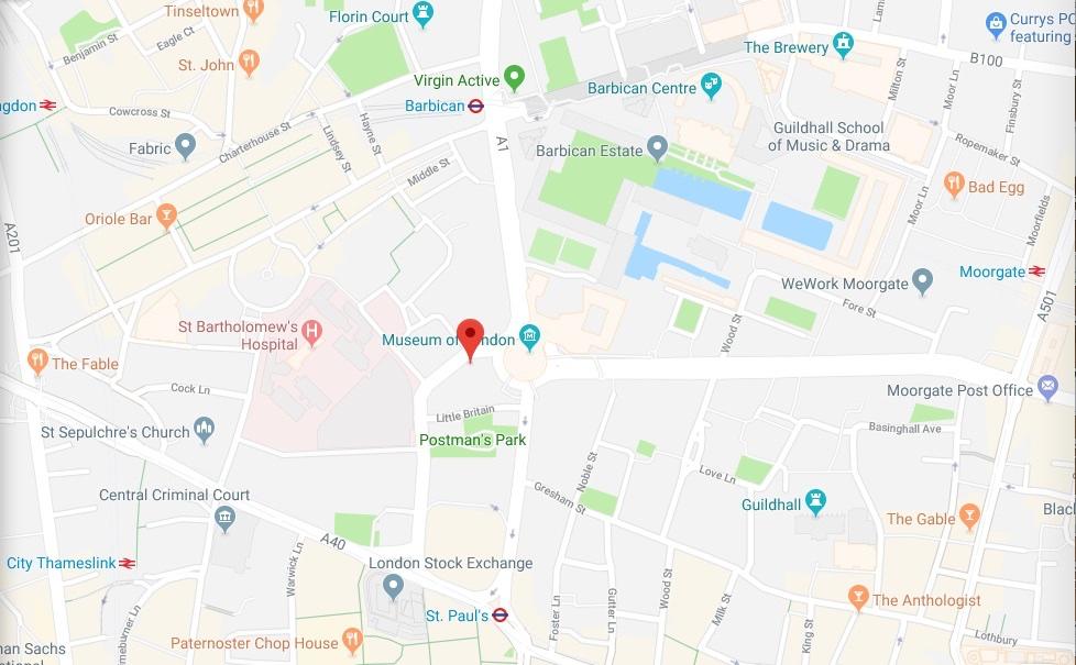 Aldersgate Street map