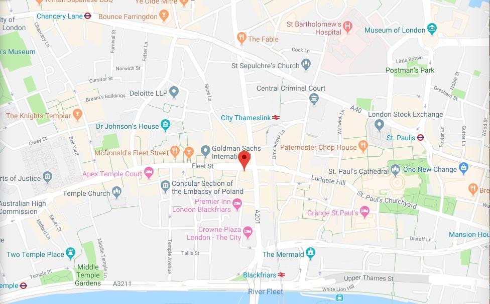 FleetStreet map